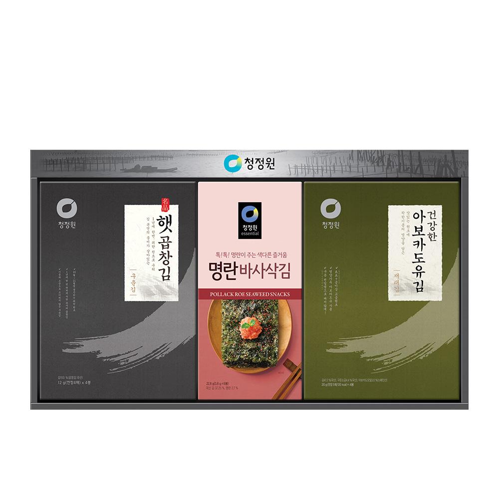청정원 햅곱창김 재래김 혼합 선물세트 8호, 1세트