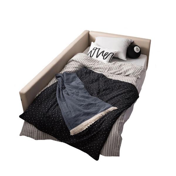 리바트 뉴탐 저상형 침대 슬림형 한쪽가드 프레임, 베이지