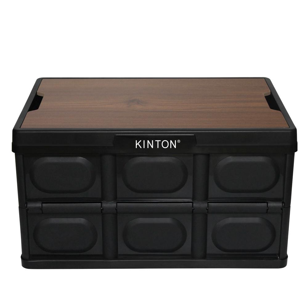 킨톤 캠핑 폴딩박스 MTI9 대형 57L + 상판 테이블 세트, 블랙, 1세트