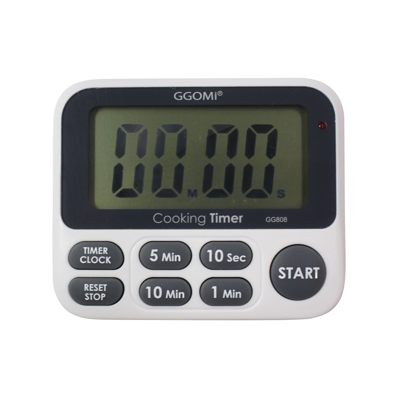 GGOMI 대형화면 LED 디지털 주방 알람 쿠킹 타이머