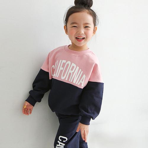 미니비 아동용 핑키르 맨투맨 세트