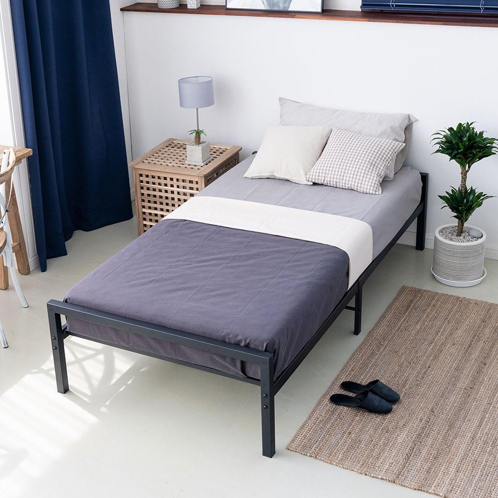 소미랑 루나 철제 침대, 블랙