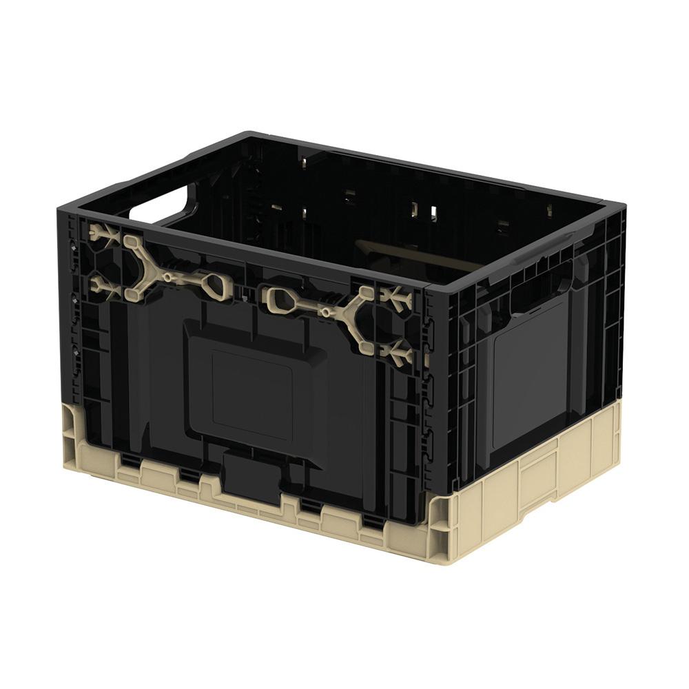 훠링 튼튼이 오픈형 폴딩박스 트렁크정리함, 블랙