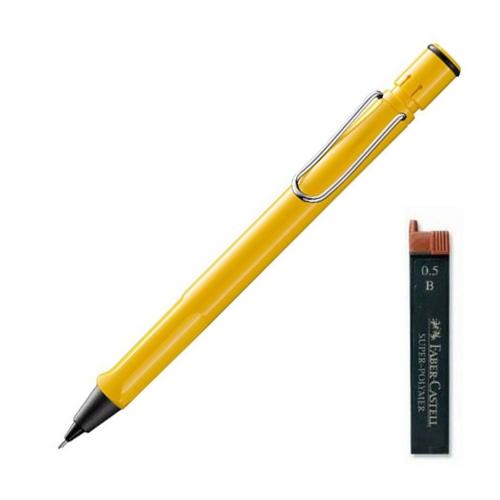 LAMY 사파리 샤프 옐로우 + 파버카스텔 샤프심 랜덤발송 세트, 0.5mm, 1세트