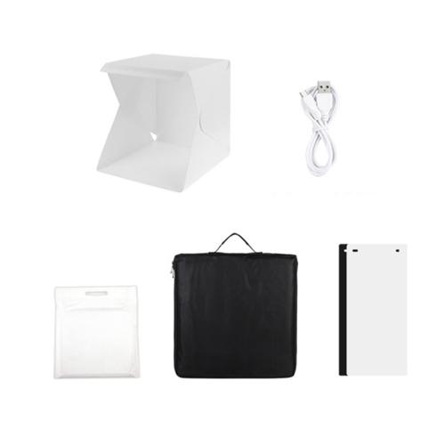 LED 포토박스 미니스튜디오 20cm + 휴대가방 + 배경판 2p, 단일상품, 1세트