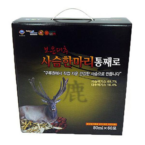 구록원 보은대추 사슴 한마리 통째로 건강즙, 80ml, 60개
