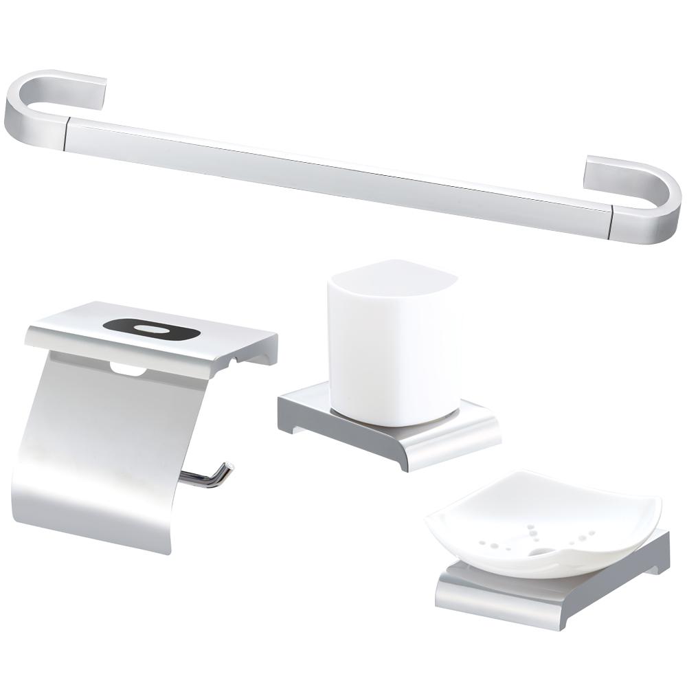 욕실 악세사리 4종 세트 059, 크롬, 1세트