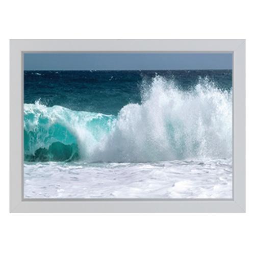 진심디자인 감성 아트웍 네츄럴 포토라인 디자인액자 A-22 푸른바다 파도, 화이트