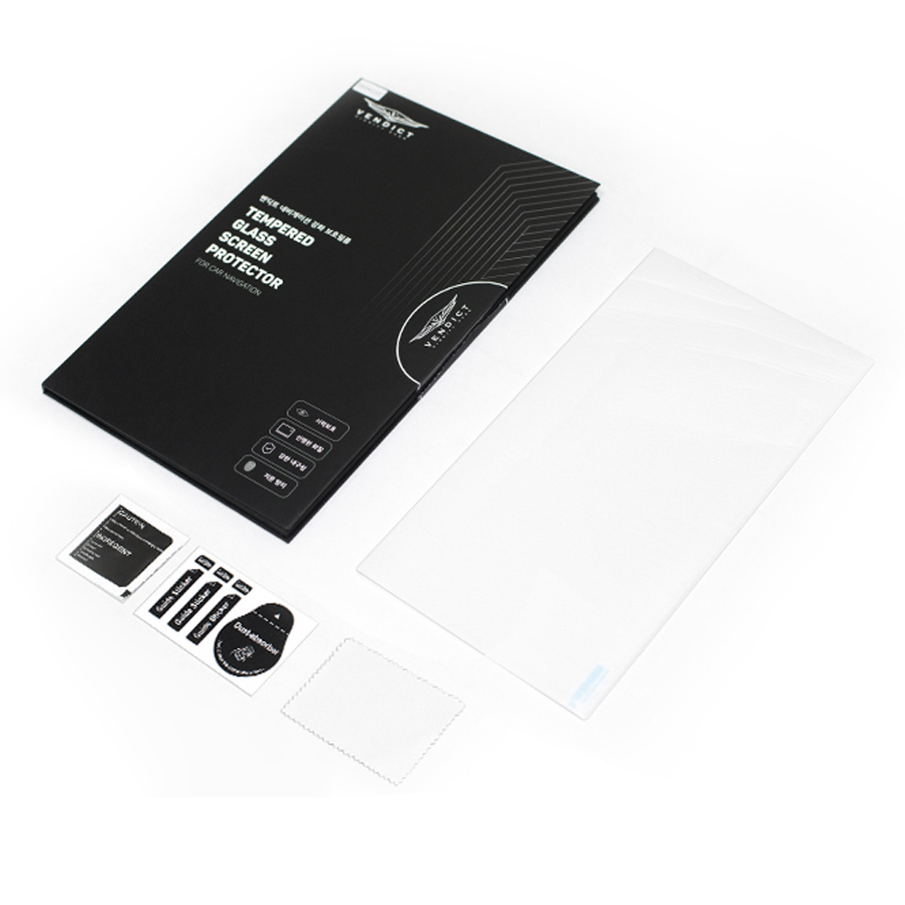 벤딕트 BMW G30 5시리즈 네비게이션 강화 액정 유리 보호 필름, 1개 (POP 2033383029)