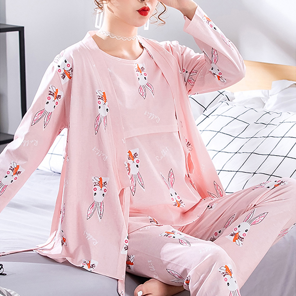 마켓에이 애니멀프린팅 모유 수유 3p 잠옷