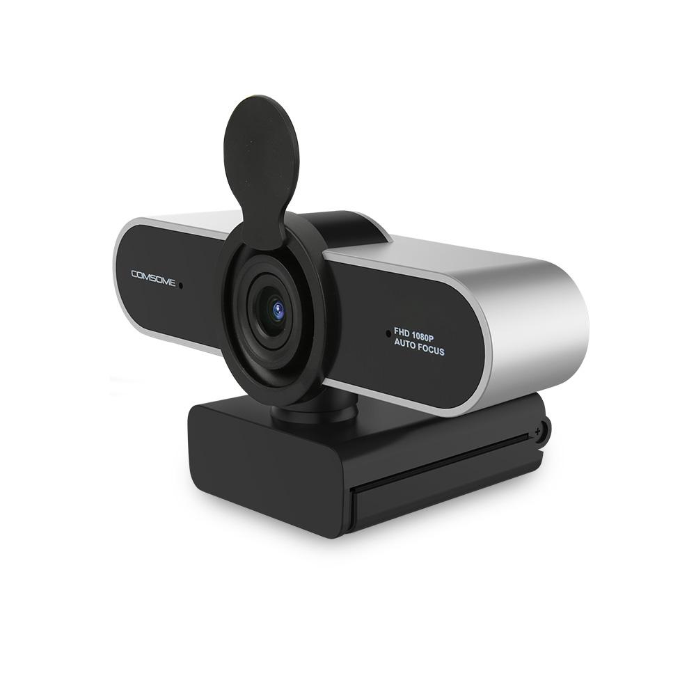 컴썸 1080P 광각 USB 웹카메라 PWC-500, 실버
