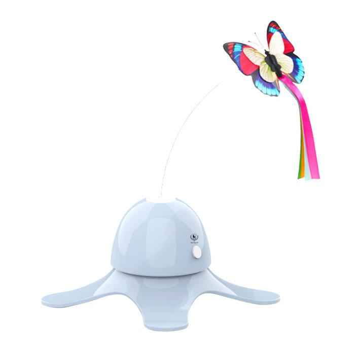 딩동펫 고양이 움직이는 나비 장난감, YT98196, 블루