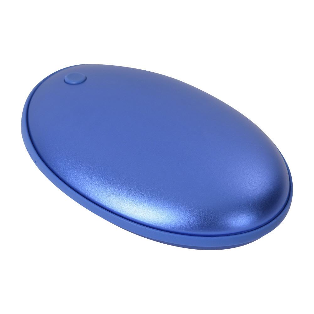 애니클리어 USB충전식 휴대용 손난로 보조배터리 5000mAh, PDB-HOT5, 블루