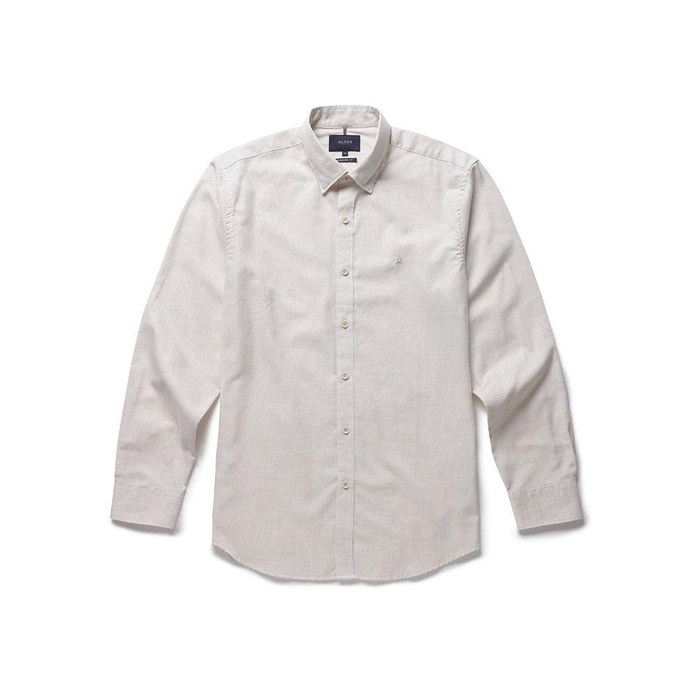 올젠 남성용 면혼방 솔리드 셔츠 ZPA3WC1901