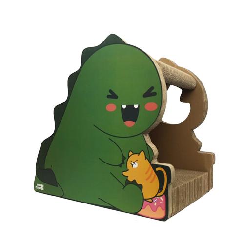 옥희독희 공룡인척 고양이 스크래쳐, 혼합색상, 1개