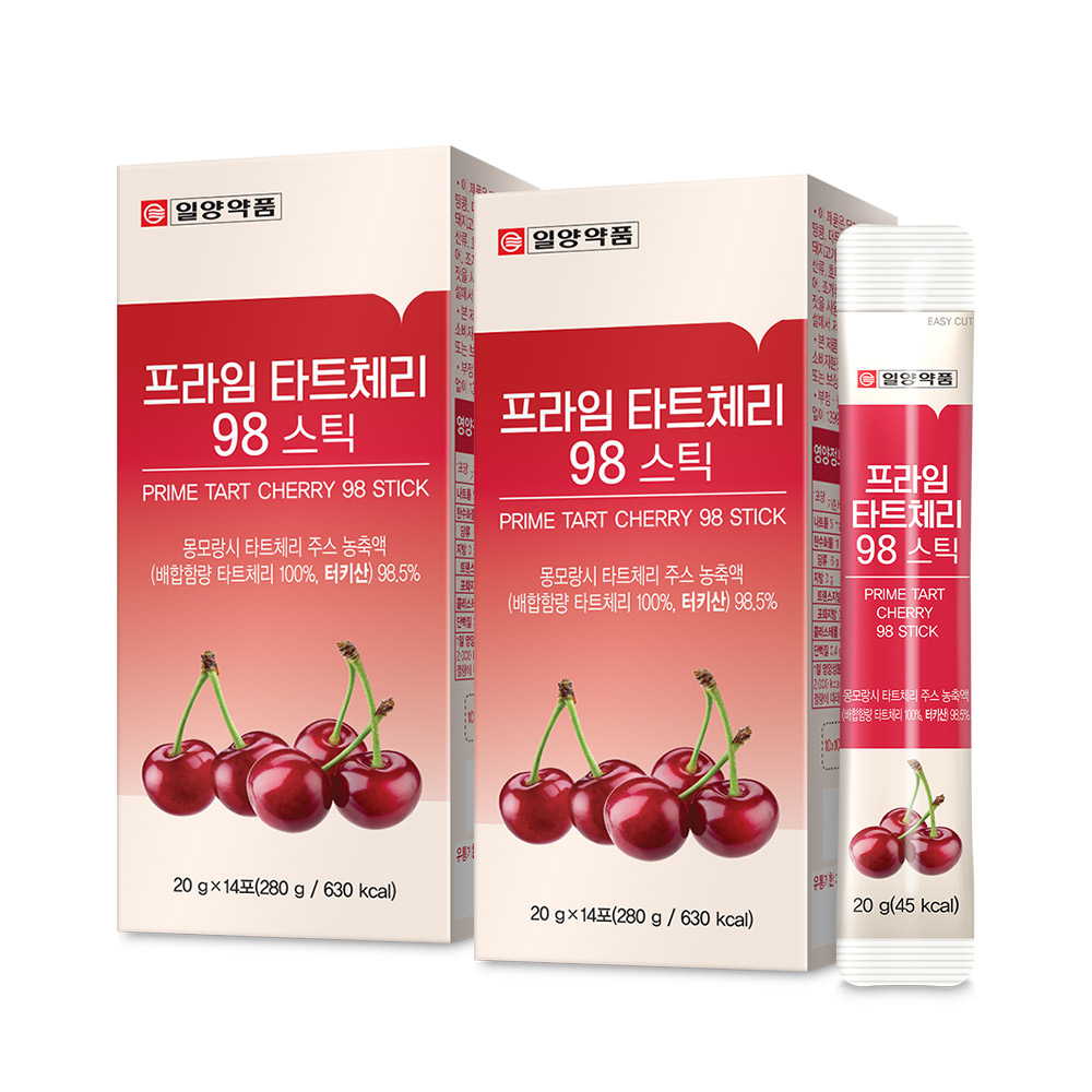일양약품 몽모랑시 프라임 타트체리 98 젤리 스틱, 280g, 2개