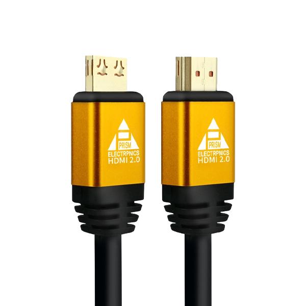 프리즘 HDMI V2.0 락케이블 PR-HD15G 골드메탈, 1개, 15m