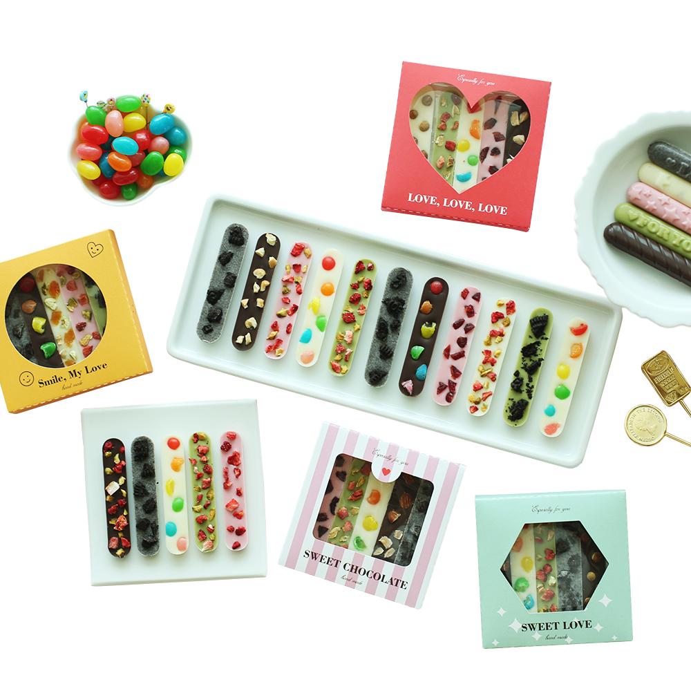 스윗핑크 러브바크더블 초콜릿 만들기 세트 + 미니상자 + 족집게, 1세트, 만들기 재료 15종