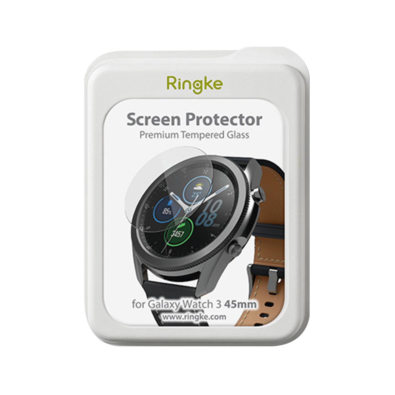 링케 갤럭시워치3 45mm 강화유리 ID 글라스 4p 세트, 단일색상, 1세트