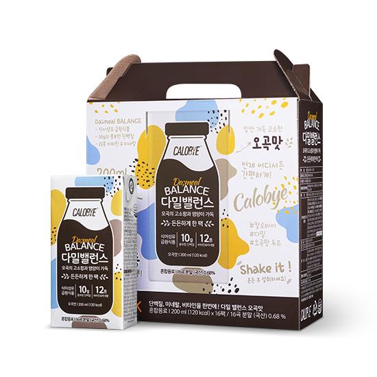 칼로바이 다밀밸런스 오곡맛 식사대용 단백질 쉐이크, 200ml, 16개