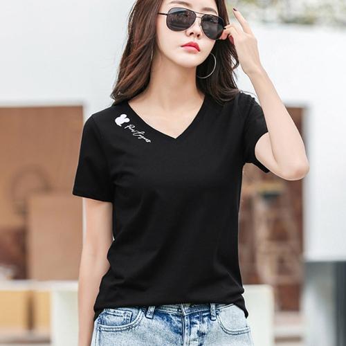 [브이넥 티셔츠] 데일로엔 여성용 미키 브이넥 반팔 티셔츠 - 랭킹37위 (16900원)