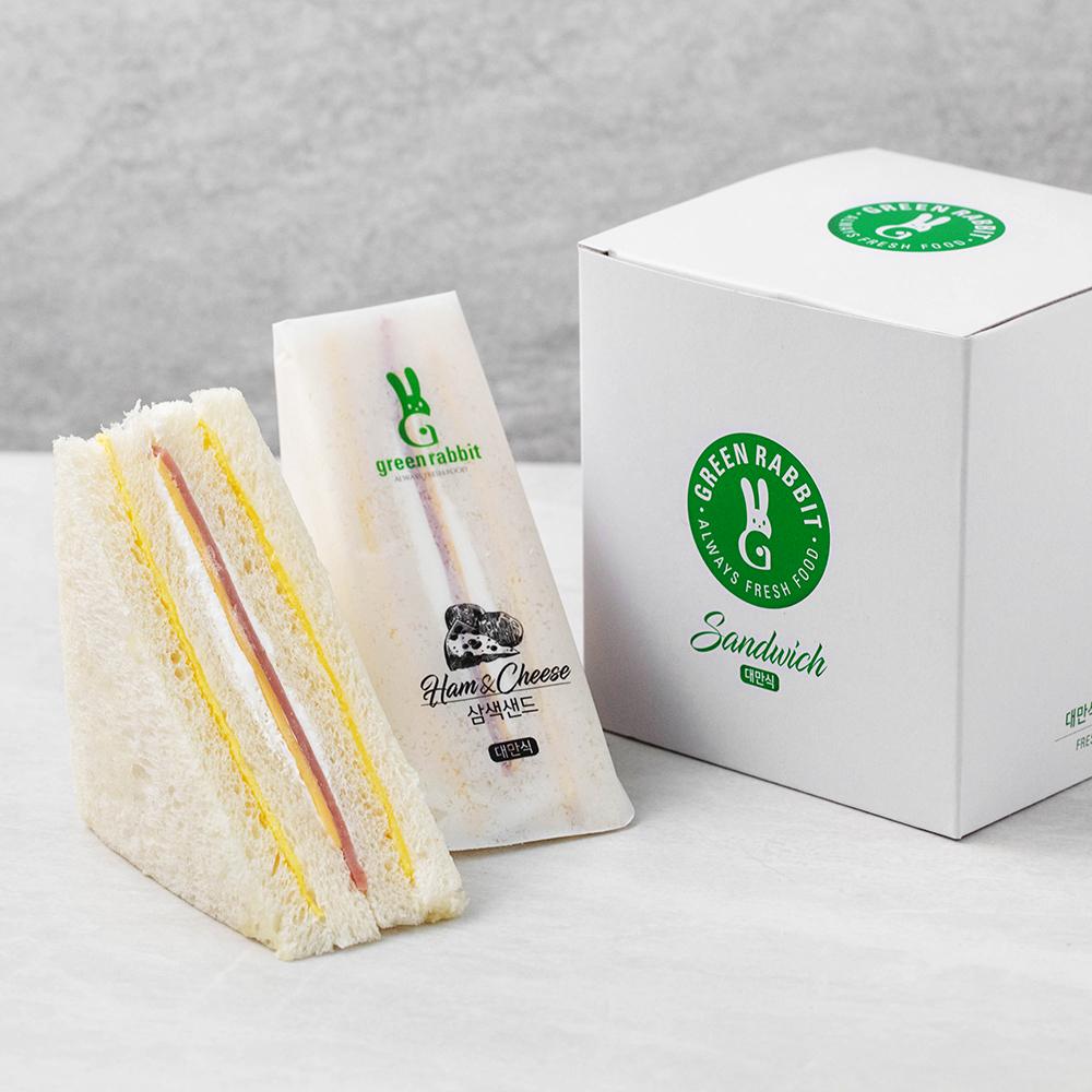 그린래빗 대만식 삼색샌드  80g  8개그린래빗 샌드위치 카야샌드  70g  4개그린래빗 대만식 트리플베리샌드  70g  4개