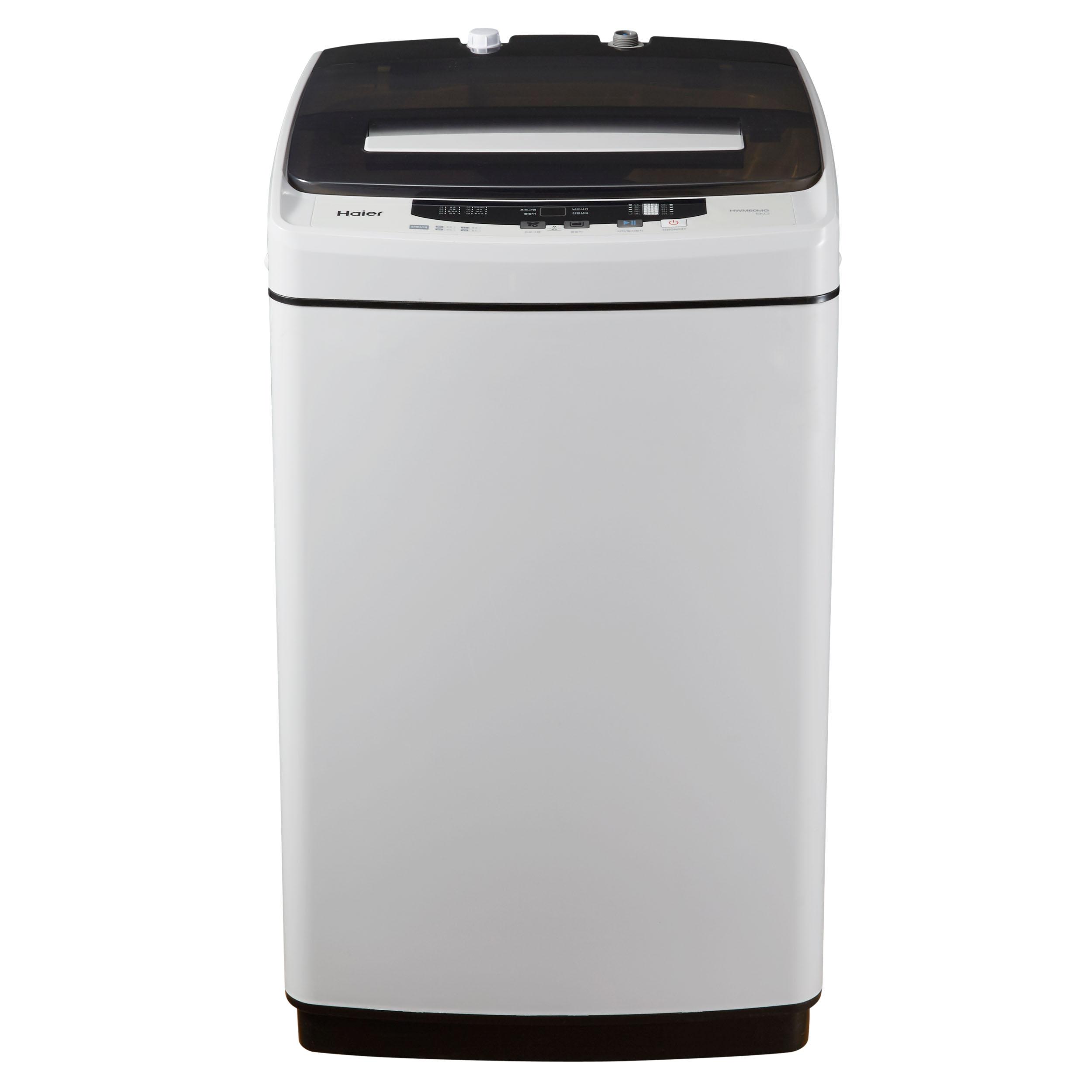 하이얼 소형 통돌이 세탁기 6kg 방문설치, HW60G(라이트 그레이)