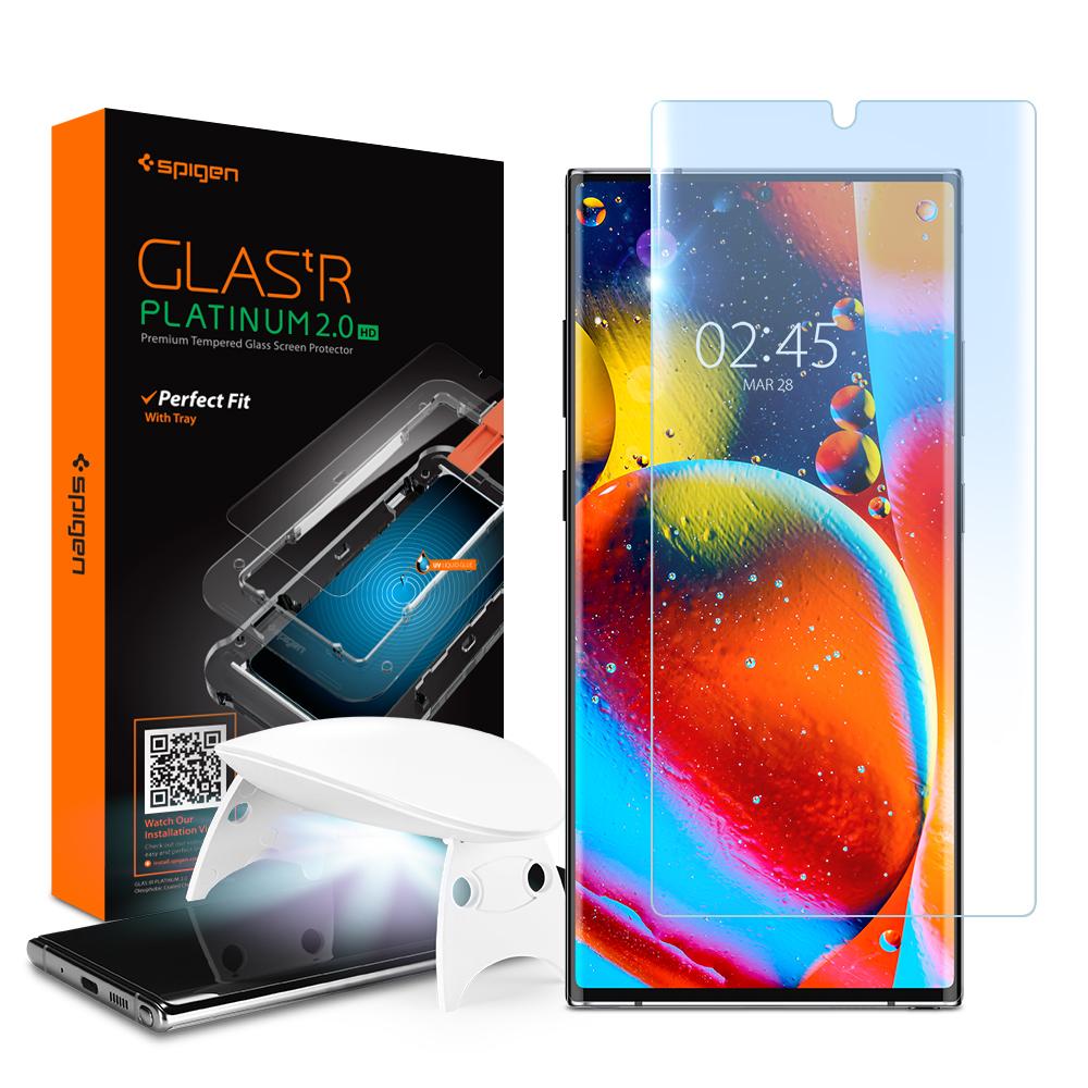 슈피겐 글라스 tR 플래티넘 2.0 HD 강화유리 휴대폰 액정보호필름 AGL01450, 1개