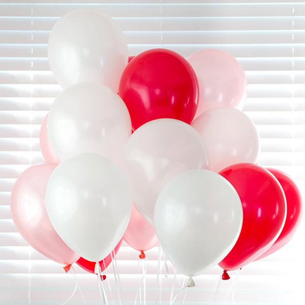 파티친구 헬륨가스 13.3L + 풍선 24p + 리본, 러브혼합, 1세트