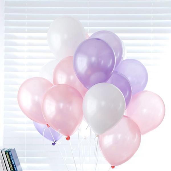 파티친구 헬륨가스 13.3L + 풍선 24p + 리본, 라벤다혼합, 1세트
