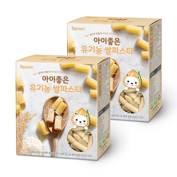 아이스푼 아이좋은 유기농 쌀 파스타 280g, 2개