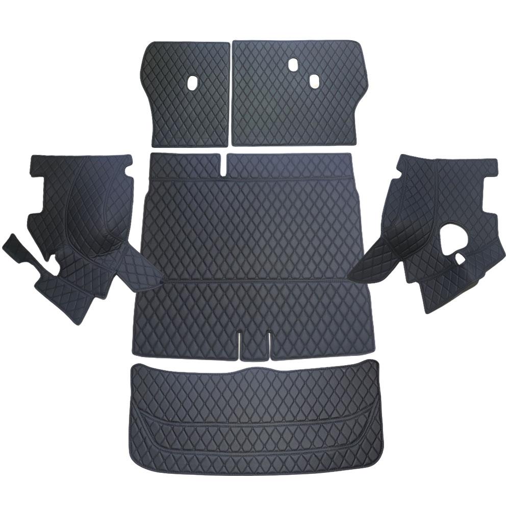 차팡 풀커버 일반 원단 차량용 트렁크매트 블랙 앤 블랙 + 벨크로 까끌이 15p + 보들이 15p, 현대, 올 뉴 투싼 5인승(스피커 유)