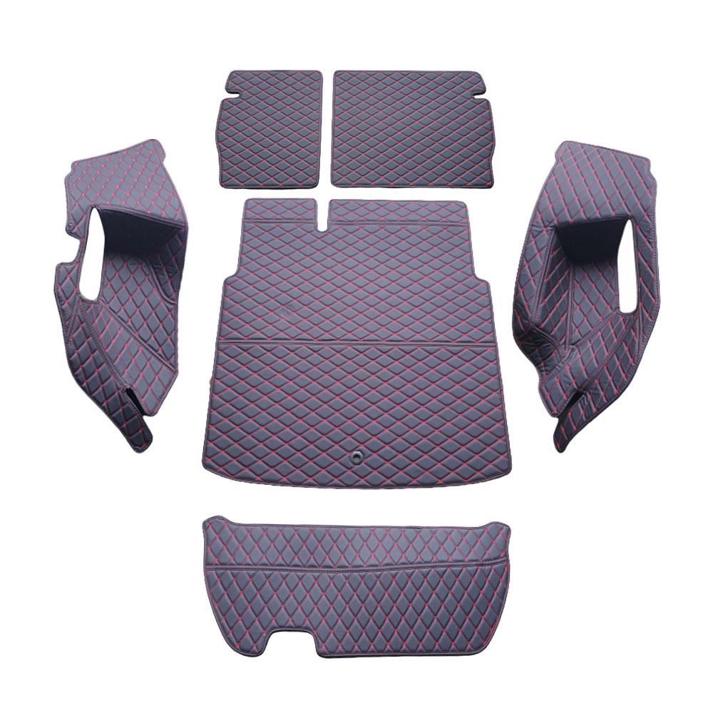 차팡 싱글 트렁크 플로어 차량용카매트 풀세트 블랙 / 레드, 르노삼성, XM3