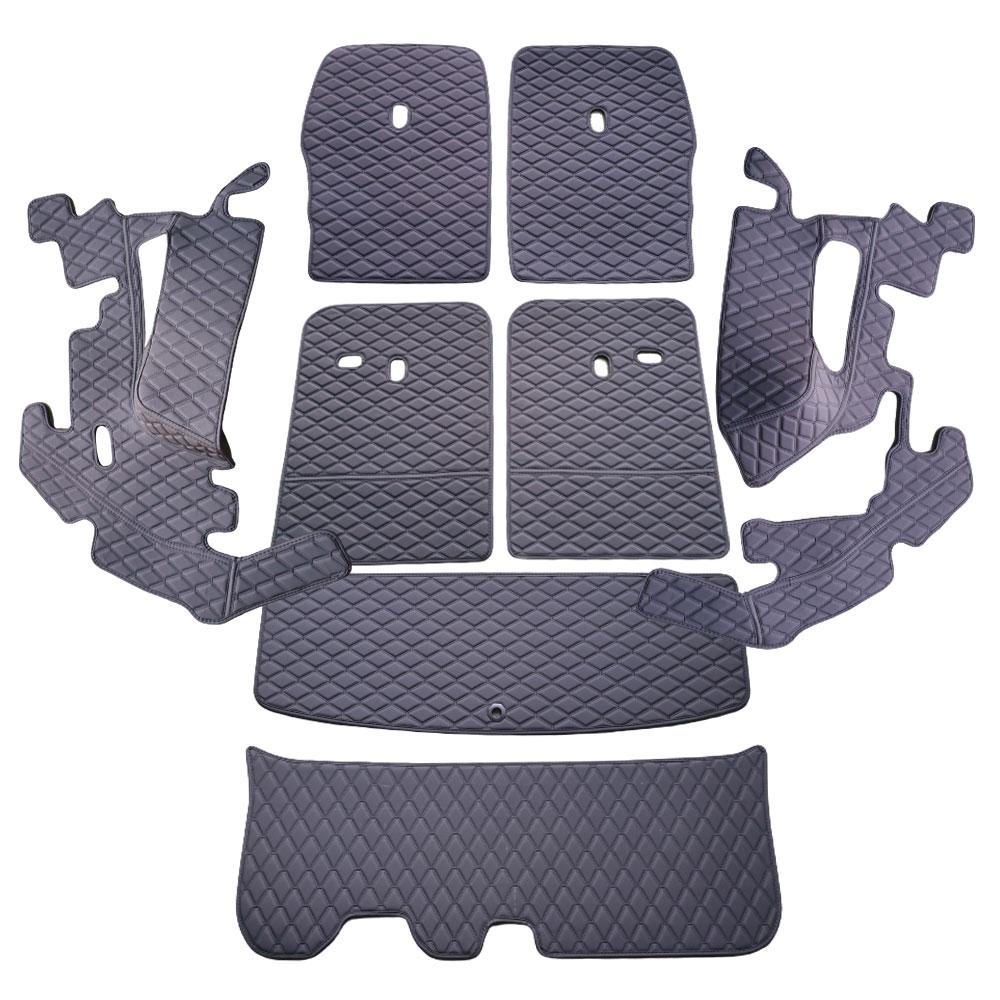 차팡 풀커버 SS 원단 차량용 트렁크매트 블랙 + 벨크로 까끌이 15p + 보들이 15p, 기아, 쏘렌토 MQ4 6인승 2020년형(스피커 무)