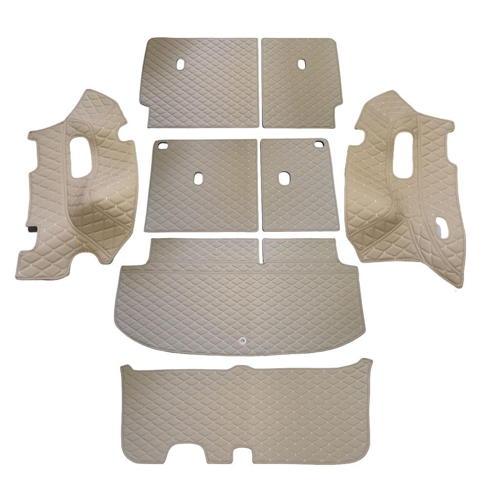 차팡 풀커버 SS 원단 차량용 트렁크매트 새들브라운 + 벨크로 까끌이 15p + 보들이 15p, 현대, 펠리세이드 하프모델 8인승(3열 수동)