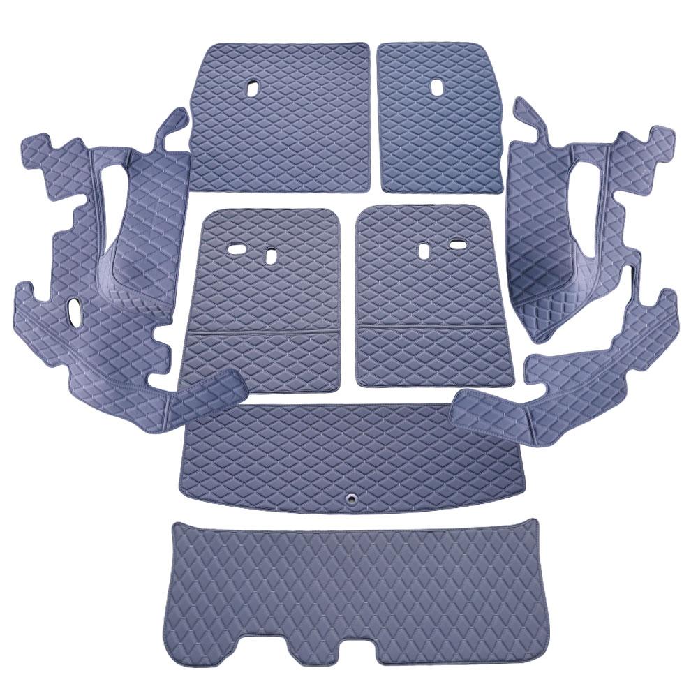 차팡 풀커버 SS 원단 차량용 트렁크매트 네이비 + 벨크로 까끌이 15p + 보들이 15p, 기아, 쏘렌토 MQ4 7인승 2020년형(스피커 무)