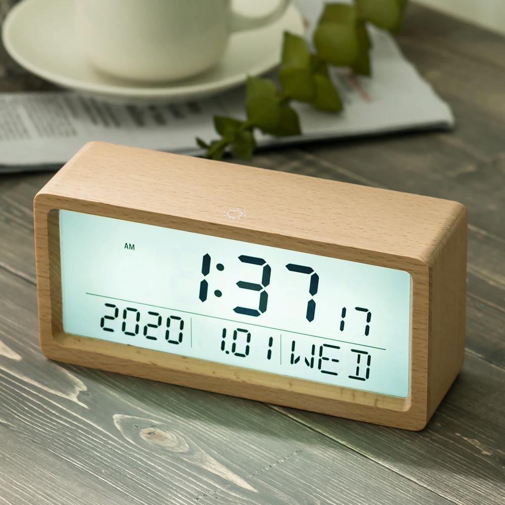 플라이토 우드 브렌치 LCD 탁상시계, 메이플