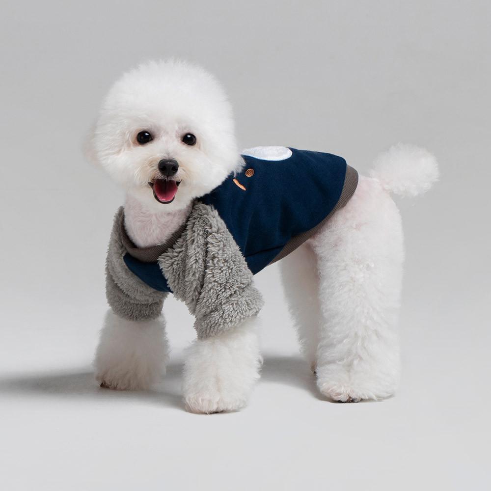 패리스독 라이베어 강아지 맨투맨, 네이비