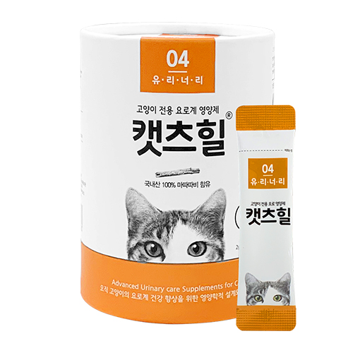 캣츠힐 유리너리 고양이 전용 영양제 2g, 방광염 요로건강, 30개