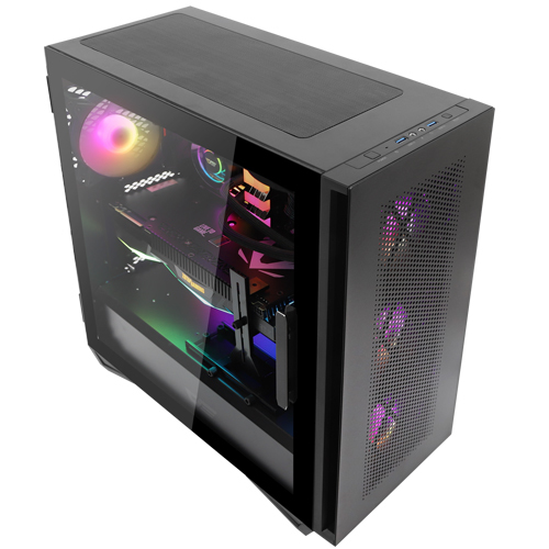 다크프래쉬 RGB 강화유리 스윙도어 컴퓨터 케이스 미들타워 블랙 DLS480