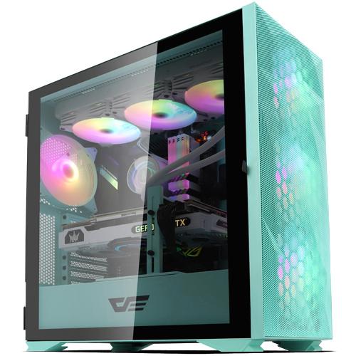 다크프래쉬 컴퓨터 케이스 미들타워 민트 DLX21 MESH
