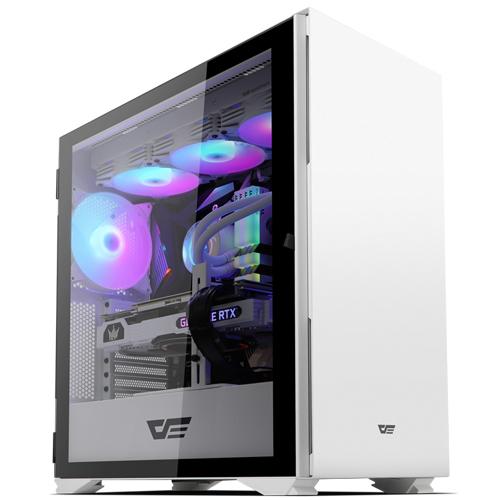 다크프래쉬 RGB 강화유리 컴퓨터 케이스 미들타워 화이트 DLX22