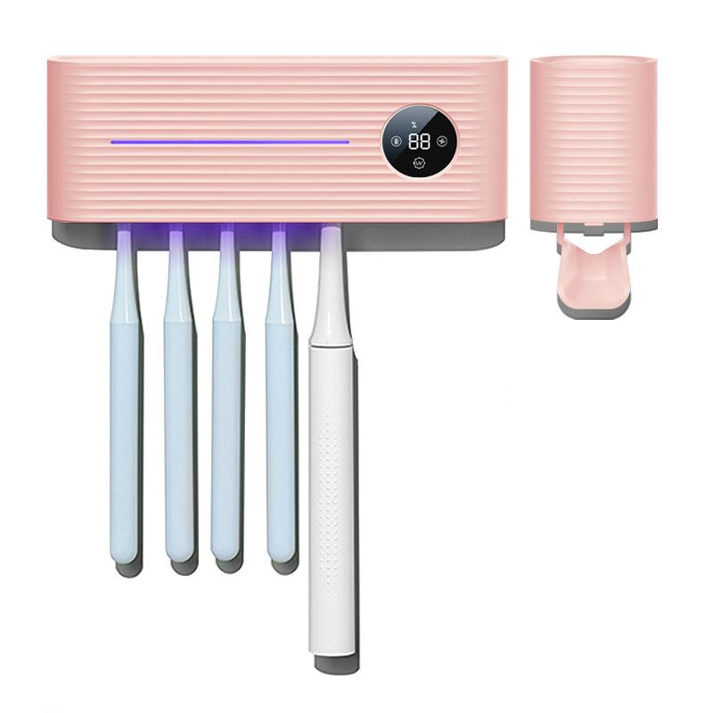 오토라 UVC LED 살균 + 건조 칫솔 살균기 FAR-TS01, 핑크