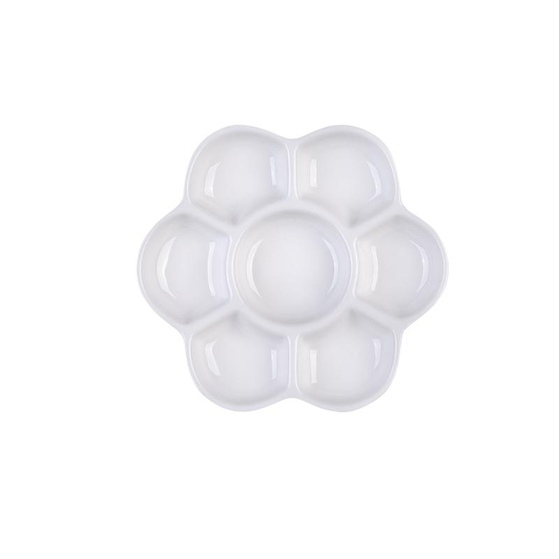 아트시크릿 세라믹 도자기 팔레트 꽃접시 CP-108, 7칸