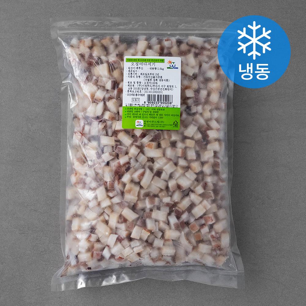 현이푸드빌 오징어 다지기 (냉동), 1.6kg, 1봉