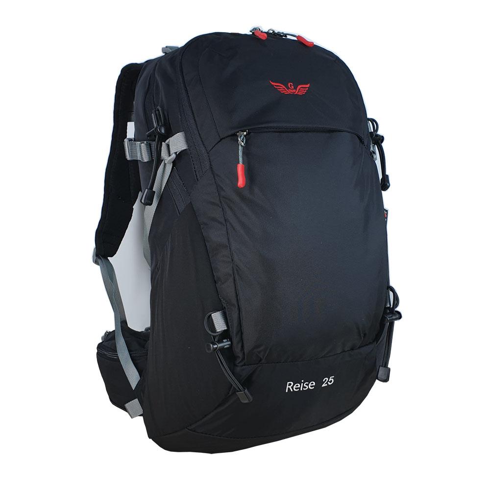 그라트 Reise 등산가방 25L + 방수 커버, 블랙