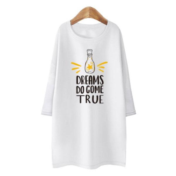 블론디 여성용 트루 특양면 7부 티셔츠