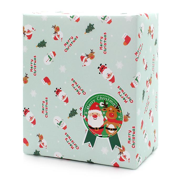 산타와 루돌프 포장지 20p + 스티커 20p, 랜덤발송, 1세트
