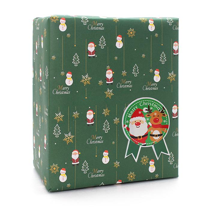산타마을 포장지 20p + 스티커 20p, 랜덤발송, 1세트