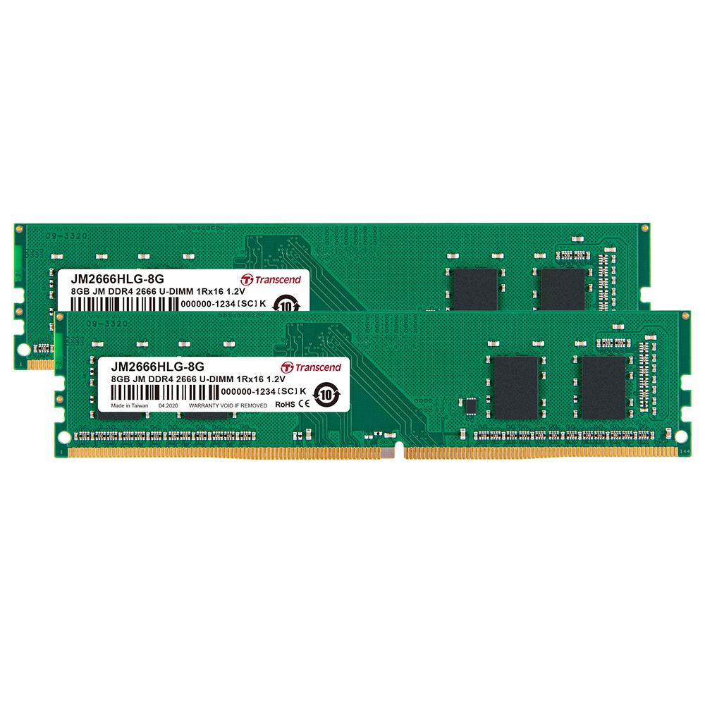 트랜센드 데스크탑용 DDR4 DRAM 2666 듀얼키트 램 8GB x 2p